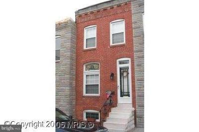 Baltimore Single Family Home For Sale: 820 Curley Street S