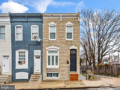 Baltimore Townhouse For Sale: 19 Conkling Street S
