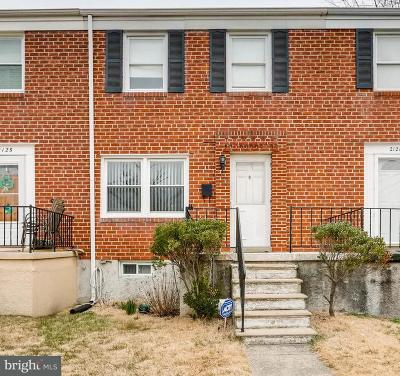 Baltimore Townhouse For Sale: 2123 Wilker Avenue