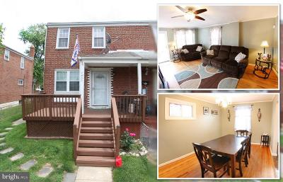 Baltimore Townhouse For Sale: 7837 St Gregory Drive