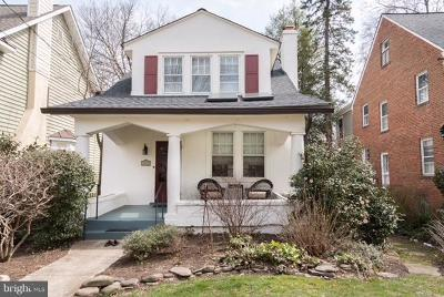 Chevy Chase Single Family Home Under Contract: 5917 33rd Street NW