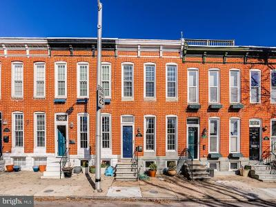 Canton, Federal Hill, Federal Hill Area, Federal Hill;, Federall Hill, Fell Point, Fells Point, Fells Point Upper, Inner Harbor Single Family Home For Sale: 1637 Covington Street