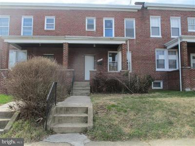 Baltimore Single Family Home For Sale: 3445 Cliftmont Avenue