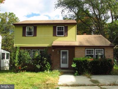 Cherry Hill Single Family Home For Sale: 8 Coles Avenue