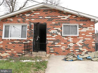 Capitol Heights Single Family Home For Sale: 408 Carmody Hills Drive