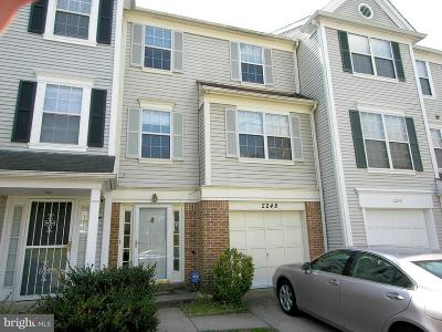 Silver Spring Townhouse For Sale: 2248 Wimbledon Circle