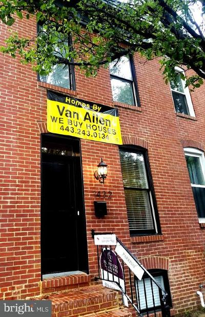 Federal Hill, Federal Hill - Riverside, Federal Hill South Townhouse For Sale: 1432 Battery Avenue
