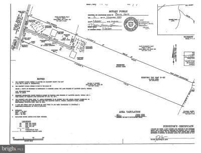 Culpeper County Residential Lots & Land For Sale: 2 Riley Road