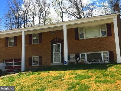 Upper Marlboro MD Single Family Home For Sale: $210,000