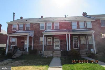 Baltimore Single Family Home For Sale: 8337 Edgedale Road