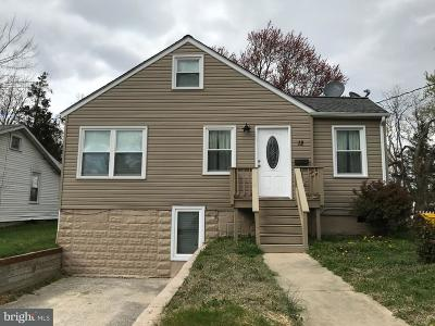 Glen Burnie Single Family Home For Sale: 12 Virginia Avenue NW