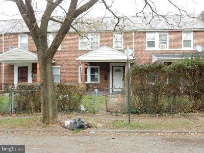 Baltimore MD Single Family Home For Sale: $53,550