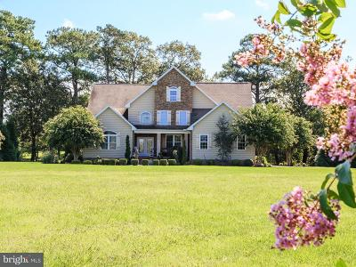 Somerset County, Wicomico County, Worcester County Single Family Home For Sale: 3497 Redden Ferry Road