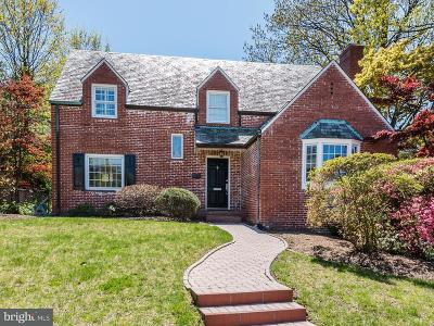American University Park Single Family Home Active Under Contract: 4712 Windom Place NW