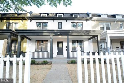 Brentwood Single Family Home For Sale: 1662 West Virginia Avenue NE