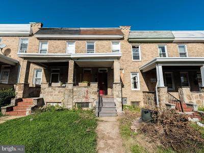 Baltimore MD Townhouse For Sale: $99,900