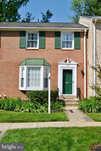 Vienna Townhouse For Sale: 244 Commons Drive NW