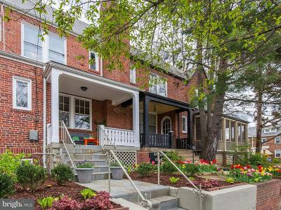 Washington Townhouse For Sale: 2505 39th Street NW