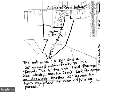 Delmar Residential Lots & Land For Sale: 0000 Columbia Road