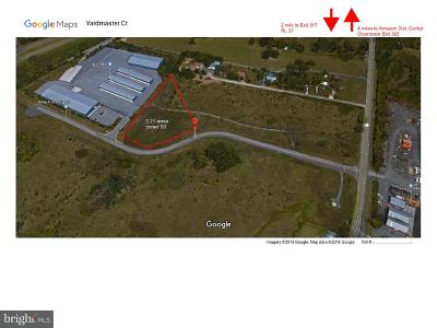 Frederick County Residential Lots & Land For Sale: Yard Master Court