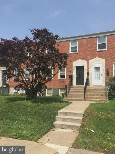 Dundalk Townhouse For Sale: 2935 Cornwall Road