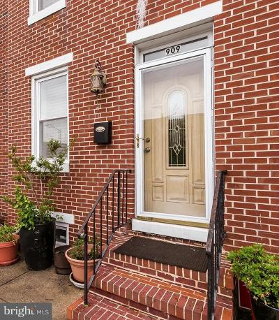 Baltimore Townhouse For Sale: 909 Barre Street