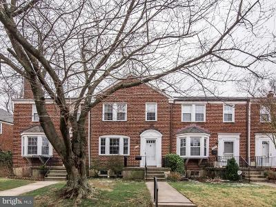 Baltimore Townhouse For Sale: 209 Gaywood Road
