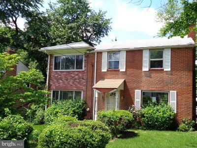 Takoma Park MD Single Family Home For Sale: $330,000