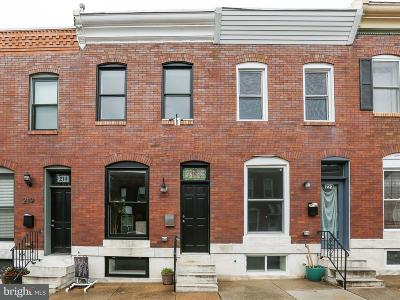 Baltimore Townhouse For Sale: 221 Robinson Street S