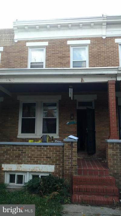 Anne Arundel County, Baltimore County, Baltimore City, Harford County Townhouse For Sale: 3137 Chesterfield Avenue