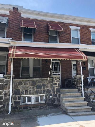 Baltimore MD Townhouse For Sale: $52,500