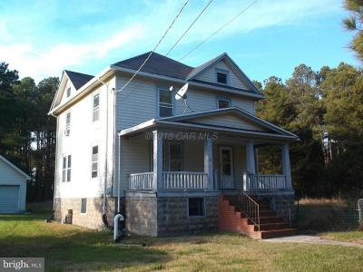 Crisfield Single Family Home For Sale: 2886 Boone Road