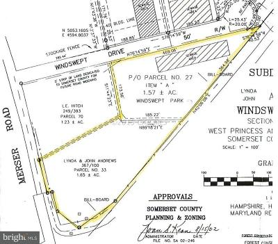 Somerset County, Wicomico County, Worcester County Residential Lots & Land For Sale: Merser Road