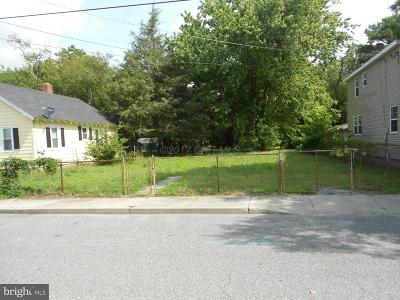 Wicomico County, WICOMICO COUNTY Residential Lots & Land For Sale: 411 Booth Street