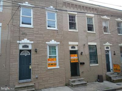 Baltimore Townhouse For Sale: 853 Reinhardt Street