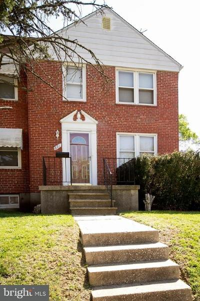 Baltimore Single Family Home For Sale: 631 Beechfield Avenue S