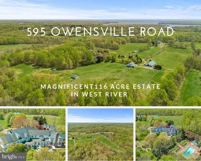 Anne Arundel County Farm For Sale: 595 Owensville Road
