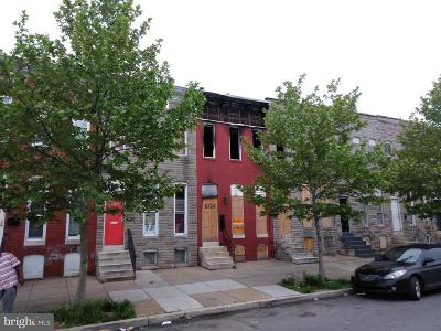 Baltimore MD Townhouse For Sale: $5,000
