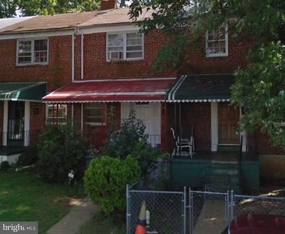Baltimore MD Townhouse For Sale: $10,000
