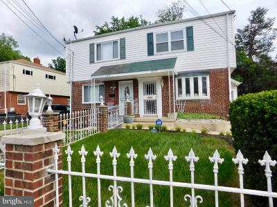 Suitland Single Family Home Active Under Contract: 4717 Brookfield Drive