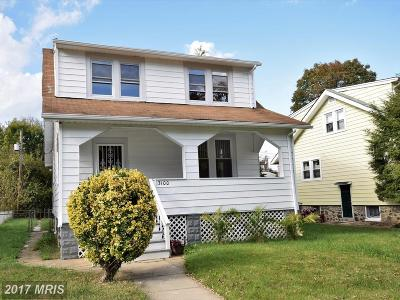 Baltimore Single Family Home For Sale: 3100 Rockwood Avenue