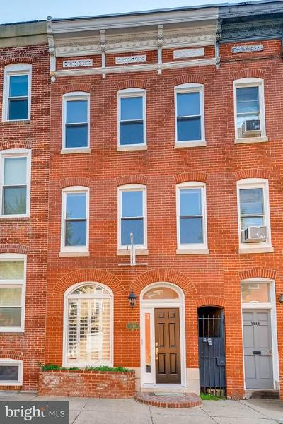Baltimore Townhouse For Sale: 1443 William Street