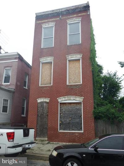 Baltimore City Single Family Home For Sale: 1612 Elmtree Street