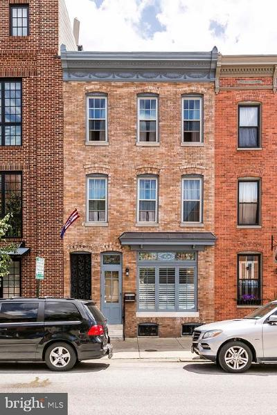 Fells Poi Nt, Fells Point, Fells Point/Hopkins, Fells Pt./Hopkins Townhouse For Sale: 1725 Aliceanna Street