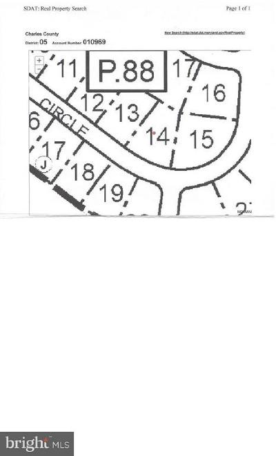 Charles County Residential Lots & Land For Sale: 9417 Overlook Circle