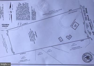 Temple Hills Residential Lots & Land For Sale: 5611 Old Temple Hill Road