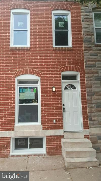 Baltimore Townhouse For Sale: 110 Ellwood Avenue N