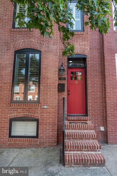 Canton, Canton Company, Canton Cove, Canton East, Canton, Patterson Park, Canton/Brewers Hill, Canton/Lighthouse Landing Townhouse For Sale: 922 Clinton Street