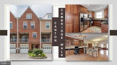 Canton, Canton Company, Canton Cove, Canton East, Canton, Patterson Park, Canton/Brewers Hill, Canton/Lighthouse Landing Townhouse For Sale: 2349 Cambridge Walk