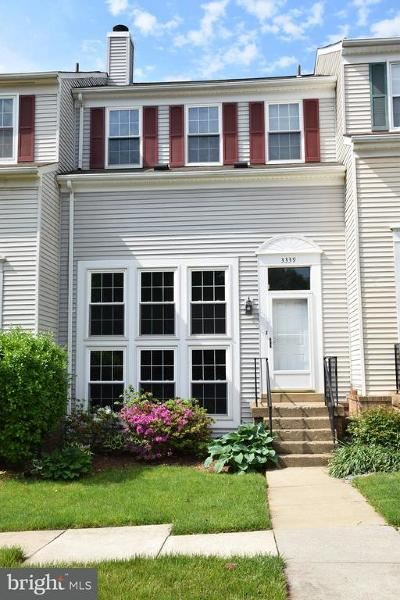 Fairfax Townhouse For Sale: 3339 Oakshade Court